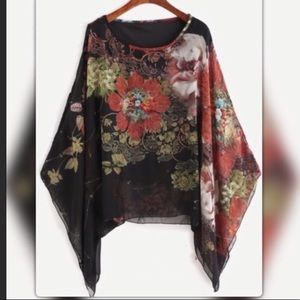 Batwing Swing Top Floral